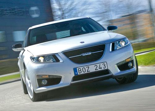 Saab 9-5 2.0 TTiD Aero (frontal)