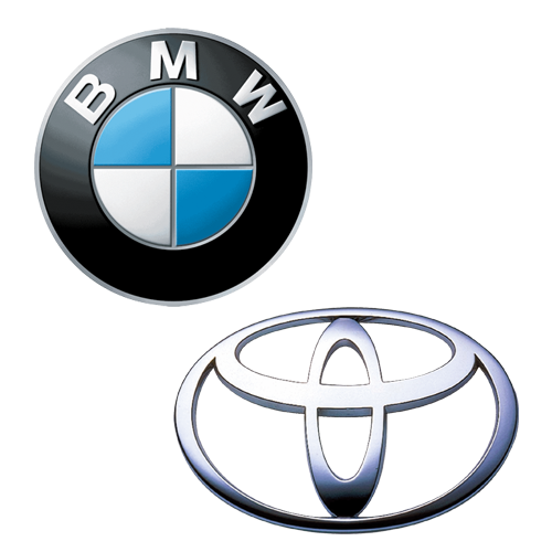 Logotipo BMW y Toyota