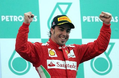 Alonso gana el GP de Malasia de F-1 2012