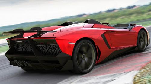 Lamborghini Aventador J (trasera)