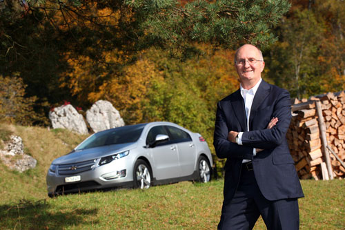 Emanuel Probst, primer propietario del Chevrolet Volt en Europa