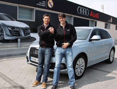 Kaká y Xavi Alonso Audi Q5
