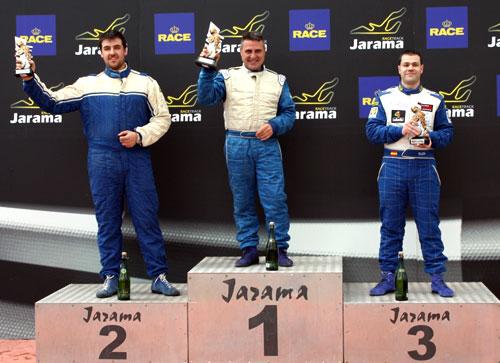 Podio Trofeo Race de Turismos (Primera carrera de 2012)
