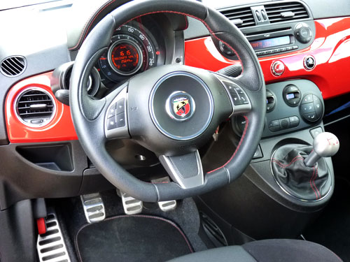 Abarth 500 Esseessee (interior)
