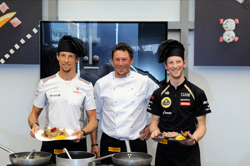 Jenson Button - Pirelli - Grosjean