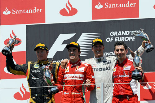 Podio GP Valencia 2012