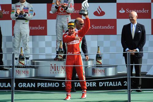 Fernando Alonso podio GP Italia F-1 2012