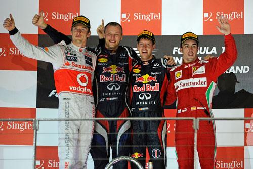 Podio Fórmula 1 GP Singapur