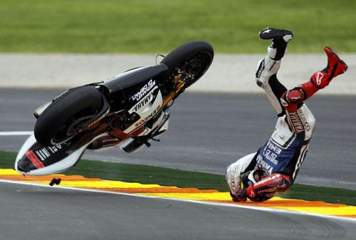 Jorge Lorenzo caída GP Valencia 2012
