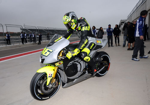 Valentino Rossi tests