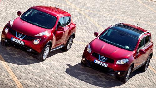 Nissan Juke y Qashqai