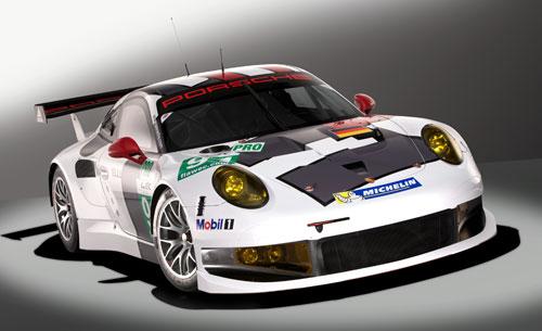 Porsche 911 RSR Lemans (frontal)