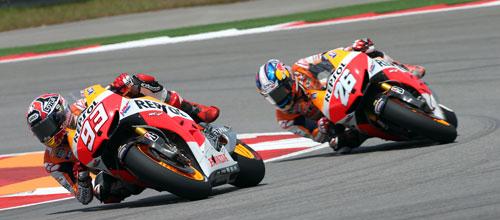 Márquez y Pedrosa MotoGP