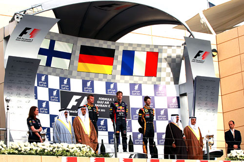 Podio Fórmula 1 Bahrein