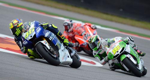 Rossi, Bautista y Dovizioso en MotoGP