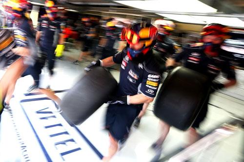 Box Red Bull GP España F1