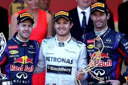 Podio F1 GP Mónaco