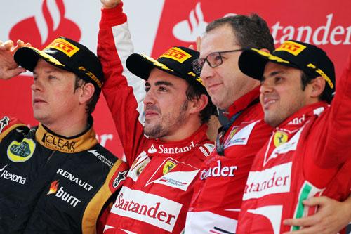 Podio F1 España Fernando Alonso