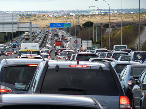 Atasco tráfico