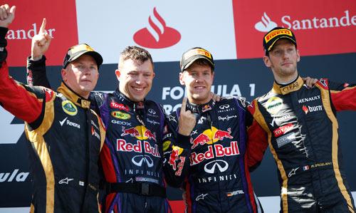 Podio GP Alemania Fórmula 1