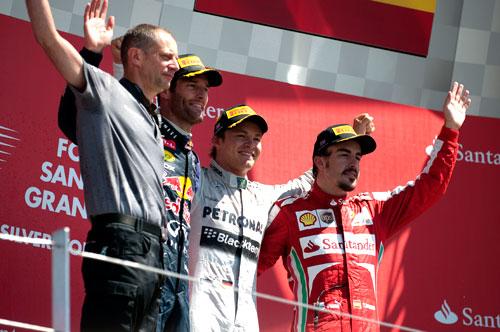 Podio F1 Silverstone