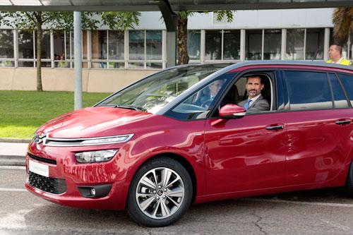 Visita del Principe Felipe a Citroën