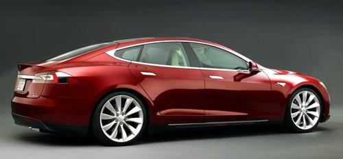 Tesla Model S (trasera)