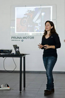 Alicia Sornosa en la conferencia BMW Pruna