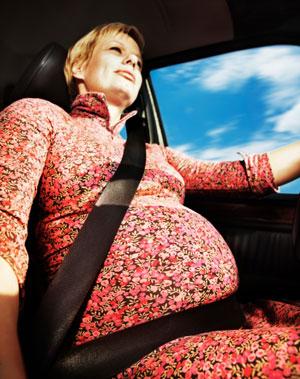 Cinturón de seguridad en embarazadas