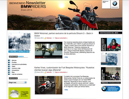 Newsletter BMW Riders enero 2014
