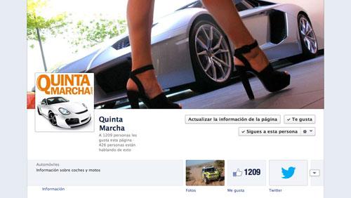 Facebook de QuintaMarcha