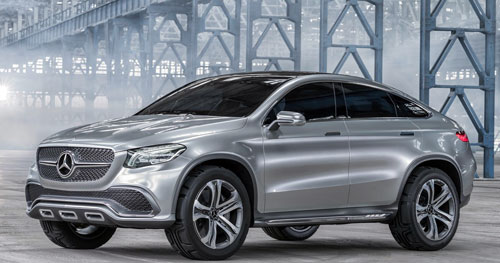 Mercedes-Benz Coupé SUV (frontal)