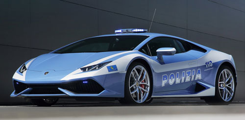 Lamborghini Huracan policial (frontal)