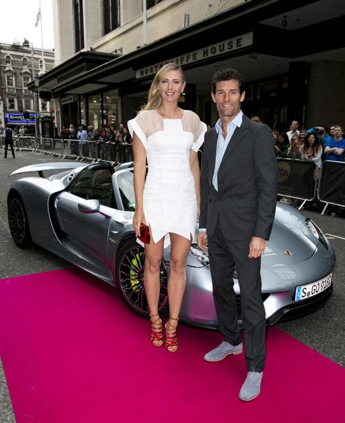 Maria Sharapova y Mark Webber - Porsche 918 Spyder
