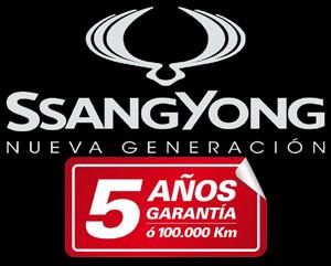 SsangYong 5 años garantia