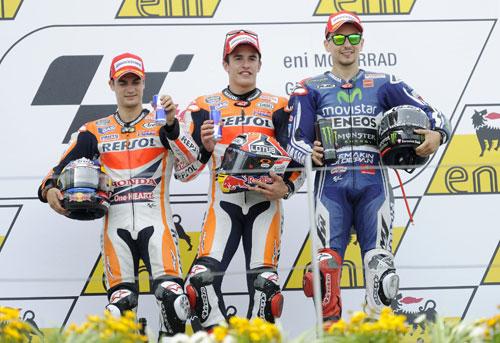Sachsenring MotoGP (podio)