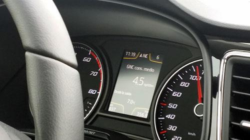 Durante el recorrido el consumo medio ha sido de 4.5 kilos de gas cada 100 kilómetros (Precio del kilo de gas: 0,9 euros).