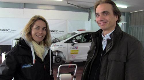 Marta Suria con Mario Camacho de Queens Comunicacion.