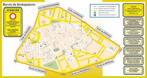 Zona de Cortes y Embajadores en el que ya está operativo el APR.