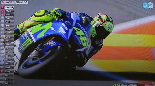 Valentino Rossi. Imagen Telecinco