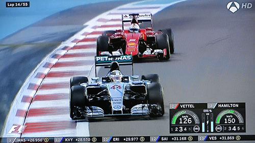 Lewis Hamilton, por delante de Sebastian Vettel, cuarto en Yas Marina y tercero en el Mundial
