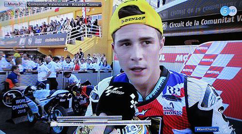 Danny Kent, campeón de Moto3. Imagen Telecinco