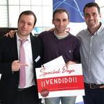 Fernando, en el centro, con García y Juanjo, de Special Days