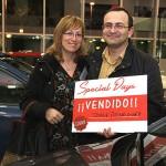 Jorge Rodríguez, junto a su mujer