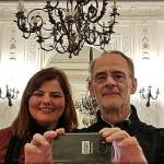 El autor con Rocío Toledo