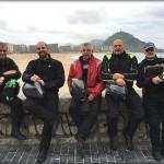 De izq. a dcha: Ramón, Óscar, Pepus,Antonio y el autor del reportaje.